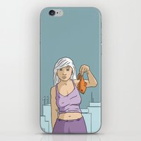 She's got fish! iPhone & iPod Skin