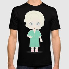 Girls in their Golden Years - Rose Mens Fitted Tee SMALL Black