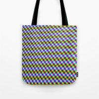 Crosshatch in Neon Tote Bag