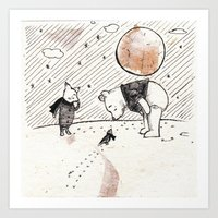 Pooh, Piglet, And Tiny B… Art Print