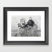Object Study In Conte Cr… Framed Art Print