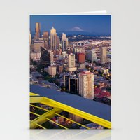 Seattle In The Evening, … Stationery Cards