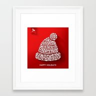 Happy Holidays - Christm… Framed Art Print