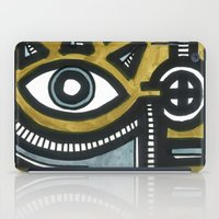Blue and Gold Face iPad Case