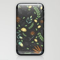 Floral Grey Pattern iPhone & iPod Skin