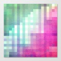 Pixel 3 Canvas Print