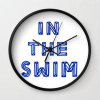 In The Swim Wall Clock