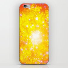 Shimmering Stars Orange iPhone & iPod Skin