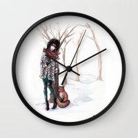 Woodland Frost Wall Clock