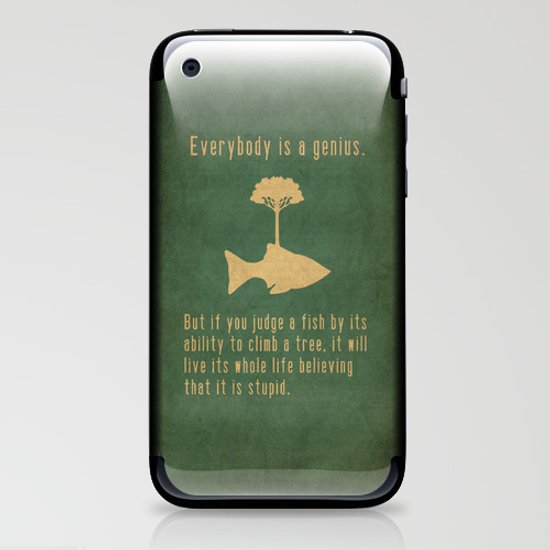 Einstein iPhone & iPod Skin