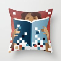 Print to Pixels Throw Pillow