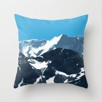 swiss mountains Throw Pillow