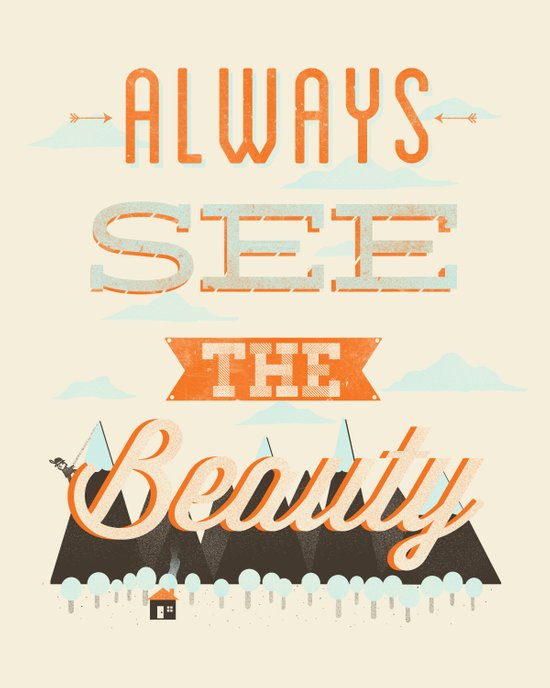 Always See The Beauty Canvas Print