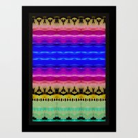 Rainbow Waves Art Print