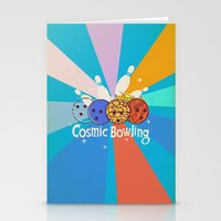 Cosmic Bowling Stationery Cards