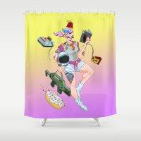 Astro Punk Sugar Rush Sprinkles  Shower Curtain
