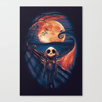 The Scream After Christmas Canvas Print