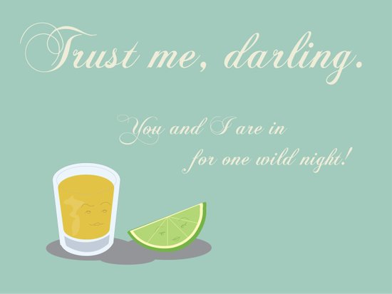 Tequila & Lime Art Print