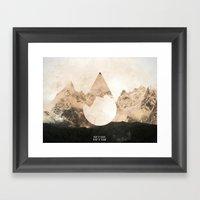 Longitude/Latitude Framed Art Print