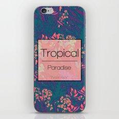 Tropical Paradise: Purple Haze iPhone & iPod Skin