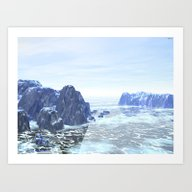 Art Print featuring Land Of Ice by Phil Perkins