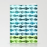 Blue Fish Yellow Fish Stationery Cards