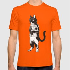 rollei_gut Mens Fitted Tee Orange SMALL
