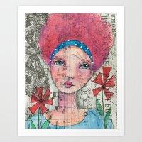 zelda Art Prints featuring Zelda by Judy Skowron