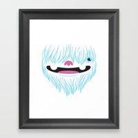 Happy Yeti Framed Art Print