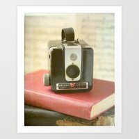 Vintage Brownie Camera Art Print