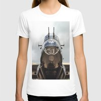Face Front Womens Fitted Tee White SMALL
