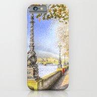 River Thames Path Snow A… iPhone 6 Slim Case