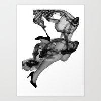 Legs in Smoke Art Print