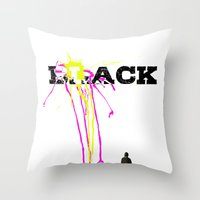 Black Throw Pillow