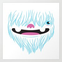 Happy Yeti Art Print