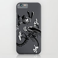 iPhone Cases featuring Alien vs Oswald by Billy Allison