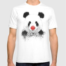 Clown panda Mens Fitted Tee White SMALL