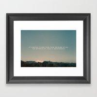 Stubborn Love Framed Art Print