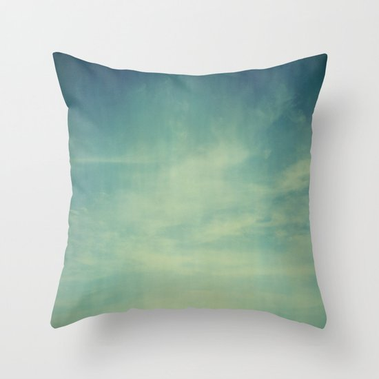 Sky Blue Decorative Pillows : Sky Blue Throw Pillow by Olivia Joy StClaire Society6