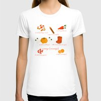 Colors: orange (Los colores: naranja) Womens Fitted Tee White SMALL