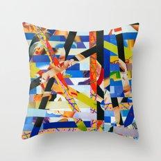 January (stripes 6) Throw Pillow