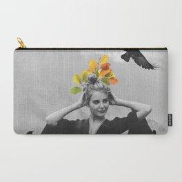 Carry-All Pouch - CROW GIRL  - Gloria Sanchez Artist