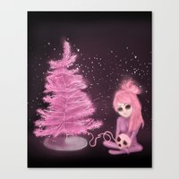 Intercosmic Christmas in Pink Canvas Print