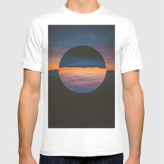 Black Sun Mens Fitted Tee SMALL White