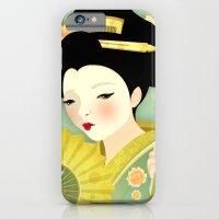 iPhone & iPod Case featuring Geisha: Olive by Jenny Lloyd Illustration