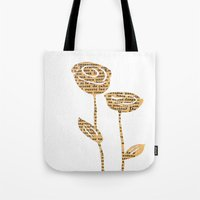 PAPERCUT FLOWER 5 Tote Bag