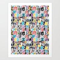 Alpha Pattern Art Print