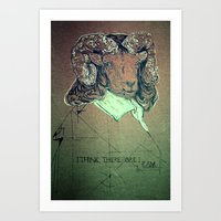 I think; therefore I ram. Art Print