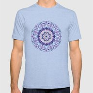 Lavender Meditation Kale… Mens Fitted Tee Tri-Blue SMALL