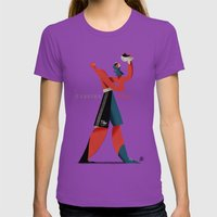 Cassius Play Womens Fitted Tee Ultraviolet SMALL